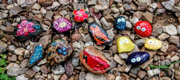 Rock Painting by Annie Swarm Guldberg